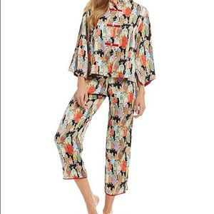 Natori Crowded City Satin Pajama Set.